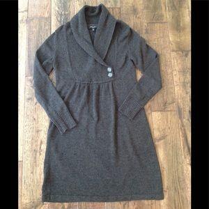 Nine West heather grey sweater dress size L, used